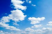 White Fluffy Clouds poster