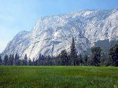 El Capitan and meadows of Yosemite Valley