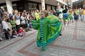 The Lady of the Wind, Emma-Rose, dances through the streets of Exeter