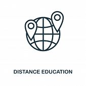 Distance Education Icon Outline Style. Thin Line Creative Distance Education Icon For Logo, Graphic  poster