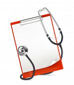 Clipboard with stethoscope, bitmap copy