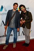 NEW YORK-MAY 17: The Brothers Green attend the IAC And Aereo Official Internet Week New York HQ Clos
