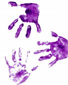 Purple Hands