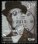 CROATIA - CIRCA 2010: A stamp printed in Croatia shows Janko Polic Kamov, series, circa 2010