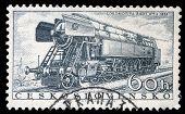 Tschechoslowakei ca. 1956: eine Briefmarke gedruckt in der Tschechoslowakei zeigen die Lok 'Rady 477.0' o