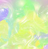 Galaxy Fluid Fantasy Background In Vibrant Baby Colors. Liquid Unicorn Minimal Rainbow Mesh Pattern. poster