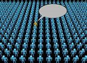 Stem van een persoon in menigte afbeelding