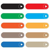 Empty Button On White Background. Flat Style. Rectangle Web Elements Set For Your Web Site Design, L poster