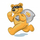 Bear with a bag of money
