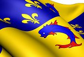 stock photo of dauphin  - Flag of Dauphine France - JPG