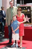 LOS ANGELES - MAY 22: Patricia Heaton, Neil Flynn, Atticus Shaffer at a ceremony honoring Patricia H