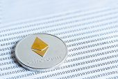 Ethereum (eth) Coins. Data Protection, Security And Data Exchange, Keep Wallet Safe And Protecting A poster