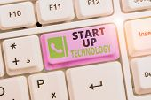 Conceptual Hand Writing Showing Start Up Technology. Business Photo Text Young Technical Company Ini poster