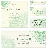 stock photo of wedding invitation  - Vector Pastel Floral Frame Set - JPG