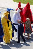 Prince Charles Camilla Stilt People Saint John