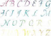 Pencil Drawn Vector Alphabet Capital Letter