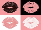 Graphic Lipstick Kisses