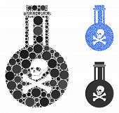 Poison Composition Of Small Circles In Variable Sizes And Color Tints, Based On Poison Icon. Vector  poster