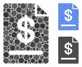 Invoice Mosaic Of Round Dots In Variable Sizes And Color Tones, Based On Invoice Icon. Vector Dots A poster