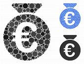 Euro Money Bag Composition Of Spheric Dots In Different Sizes And Shades, Based On Euro Money Bag Ic poster