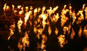 fire flames in the water