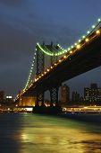 Glowing Manhattan Bridge
