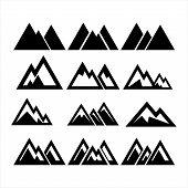 Mountain Logo, Mountain Logo Vector, Hills Logo, Mountain Symbol, Mountain Icon, Mountain Logo Templ poster