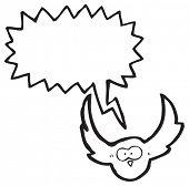 Cartoon-Eule Kreischen