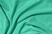 Mint Draped Fabric With Silver Lurex Thread poster