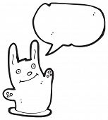 image of rabbit hole  - cartoon bunny rabbit waving - JPG
