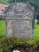 Anne Brontes Grabstein, St. Marys Kirche Friedhof, Scarborough, England.