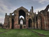 Melrose Abbey Ruins Front