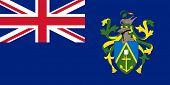 Bandeira do Estado soberano de país dependente das Ilhas Pitcairn em cores oficiais.