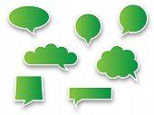Green speech bubbles