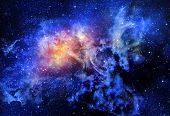 picture of starry  - starry deep outer space nebual and galaxy - JPG