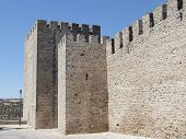 Wall of a castle