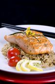 Salmon On Wild Rice