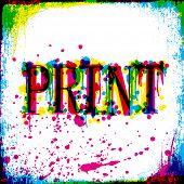 Print-Konzept Grunge Design. Vektor, EPS10