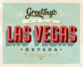 Vintage Touristic Greeting Card - Vector EPS10. Grunge effects can be easily removed for a brand new