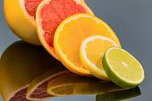 slices of an orange. representative photo of healthy vitamins from fresh fruit
