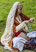 mittelalterliche Frau