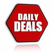 Daily Deals Red Hexagon