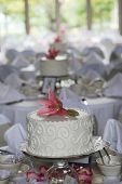 small wedding cakes all in a row