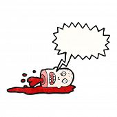 gross severed head cartoon