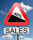 sale 40% off winter off for summer sales text on road sign concept for online web shop internet shop