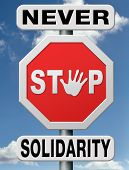 solidarity and equality, equal rights and opportunities for everybody and human right no discriminat