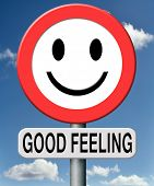 good feeling totally relaxed and at ease positive healthy attitude happy life