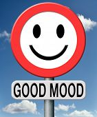 Good mood looking at the sunny side of life feeling lucky and happy day