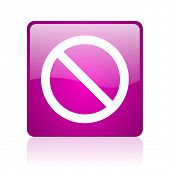 access denied violet square web glossy icon