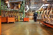 TOGLIATTI - SEPTEMBER 30: Workshop with parts for production of cars at Avtovaz factory on September